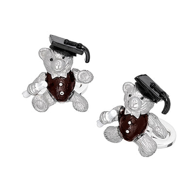 Graduation Gift Bear Cufflinks - Jan Leslie Cufflinks and Accessories