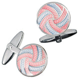 Colorful Enamel Pinwheel Cufflinks