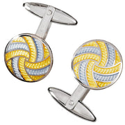 Colorful Enamel Pinwheel Cufflinks - Jan Leslie Cufflinks and Accessories