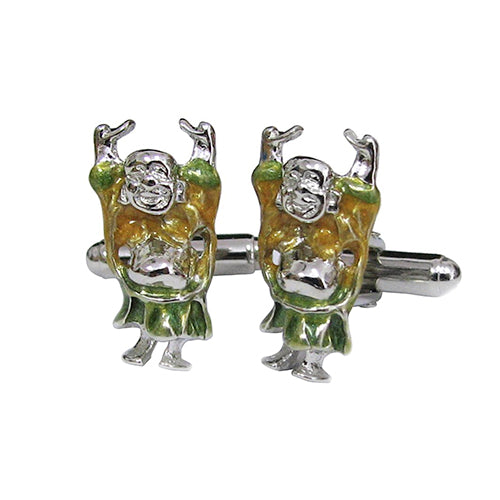 Sterling Silver Happy Buddha Cufflinks