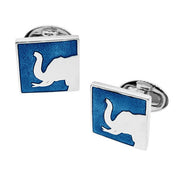 Square Elephant Silhouette Cufflinks - Jan Leslie Cufflinks and Accessories