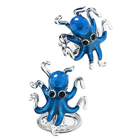 Octopus Sterling Silver Cufflinks