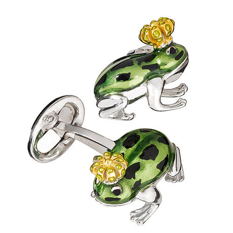 Novelty Frog Prince Cufflinks by Jan Leslie