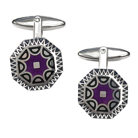Dendritic Opal Sterling Silver Cufflinks