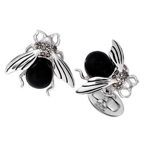 Gemstone Black Fly Cufflinks