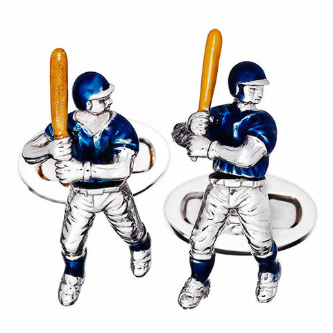Moving Baseball Player Cufflinks