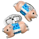 Novelty Pig in a Blanket Cufflinks by Jan Leslie