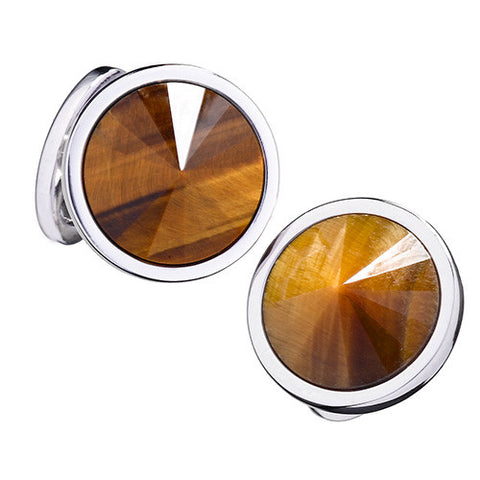 Colorful Gemstone Sphere Cufflinks