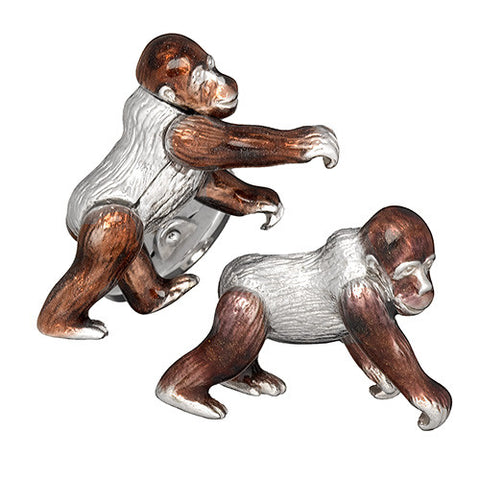 Moving Gorilla Cufflinks