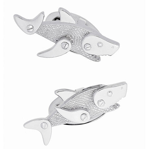 Moving Rivet Shark Cufflinks
