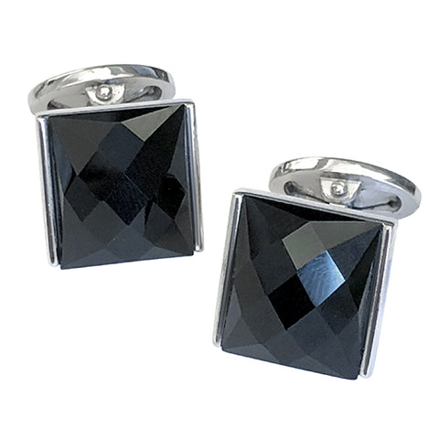 Faceted Rectangle Cufflinks