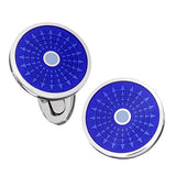 Blue Enamel Ferris Wheel Button Cufflinks by Jan Leslie