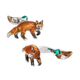 Fox and Duck Gift Cufflinks by Jan Leslie