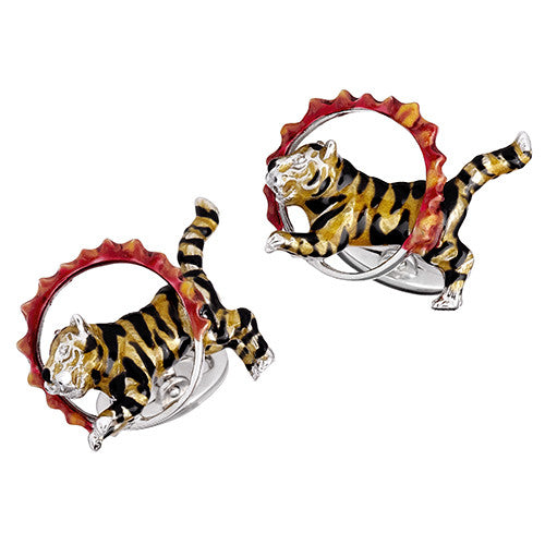 Tiger Cufflinks by Jan Leslie