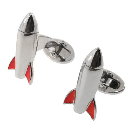 Rocket Sterling Silver Cufflinks