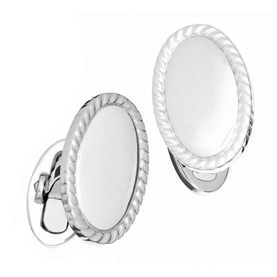 Engravable Cufflinks: Oval