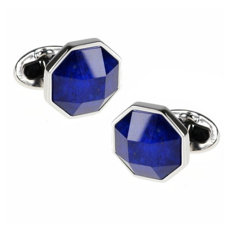 Gemstone and Crystal Doublet Faceted Cufflinks - Jan Leslie Cufflinks and Accessories