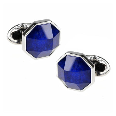 Black Enamel Hexagon Screw Cufflinks