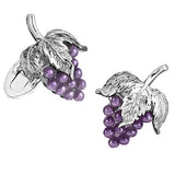Gemstone Grape Cufflinks - Jan Leslie Cufflinks and Accessories