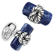 Rope Knot Onyx Gemstone Cufflinks