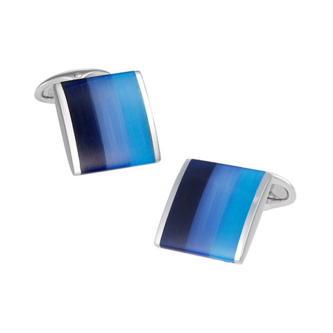 Gemstone Shark Tooth Cufflinks