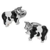 Black and White Cow Cufflinks - Jan Leslie Cufflinks and Accessories