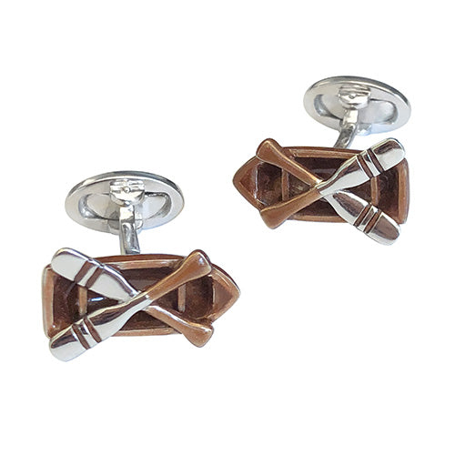 Boat and Oar Cufflinks - Jan Leslie Cufflinks and Accessories