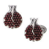 Garnet Pomegranate Cufflinks - Jan Leslie Cufflinks and Accessories