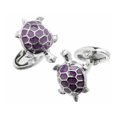 Enameled Turtle Cufflinks - Jan Leslie Cufflinks and Accessories