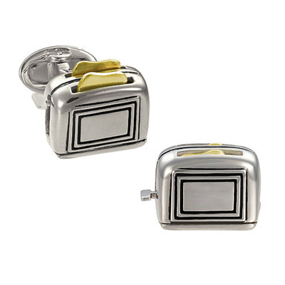 Working Toaster Cufflinks - Jan Leslie Cufflinks and Accessories
