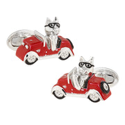 Sterling Silver Road Hog Cufflinks - Jan Leslie Cufflinks and Accessories