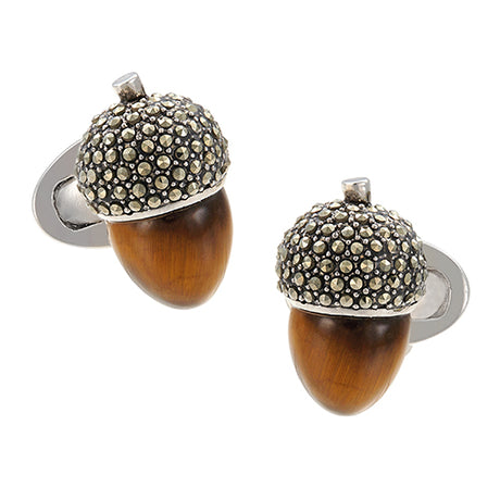 Tiger‰۪s Eye Acorn Cufflinks - Jan Leslie Cufflinks and Accessories