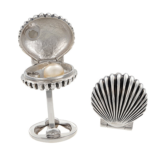 Oyster and Pearl Cufflinks - Jan Leslie Cufflinks and Accessories