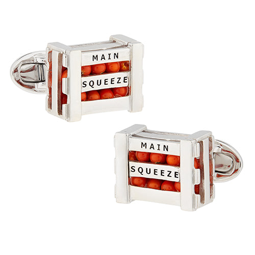 Main Squeeze! Whimsical Orange Crate Cufflinks - Jan Leslie Cufflinks and Accessories