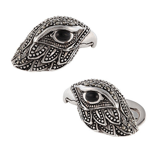 Pave Eagle Head Cufflinks - Jan Leslie Cufflinks and Accessories