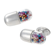 Whimsical Pill Capsule Cufflinks - Jan Leslie Cufflinks and Accessories