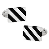 Gemstone Stripe Rectangle Cufflinks - Jan Leslie Cufflinks and Accessories