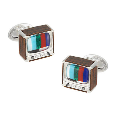 Retro TV Cufflinks - Jan Leslie Cufflinks and Accessories