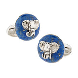 Gemstone Elephant Cufflinks - Jan Leslie Cufflinks and Accessories