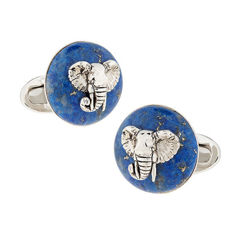 Gemstone Elephant Cufflinks