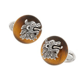 Gemstone Dragon Cufflinks