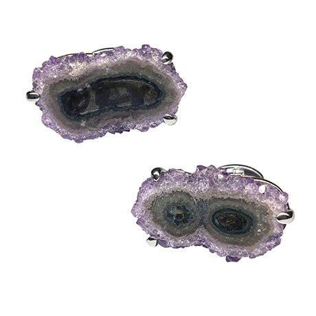 Purple and Green Twin Stalactite Cufflinks