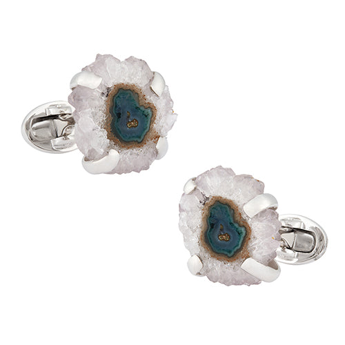 Stalactite Sterling Silver Cufflinks - Jan Leslie Cufflinks and Accessories