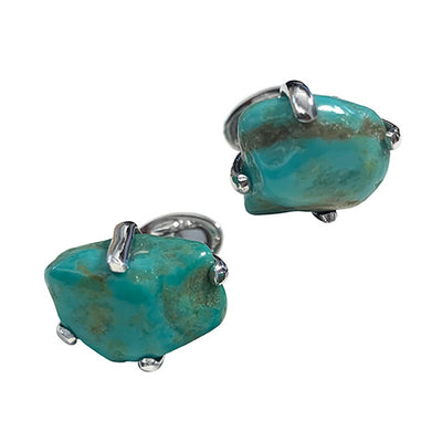 Turquoise Sterling Silver Cufflinks Cufflinks Jan Leslie Cufflinks and Accessories Turquoise-1 Jan Leslie