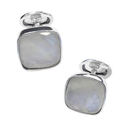 Faceted Moonstone Sterling Silver Cufflinks - Jan Leslie Cufflinks and Accessories