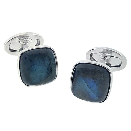 Blue Labradorite Square Cufflinks - Jan Leslie Cufflinks and Accessories