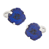 Azurite Druzy Sterling Silver Cufflinks - Jan Leslie Cufflinks and Accessories
