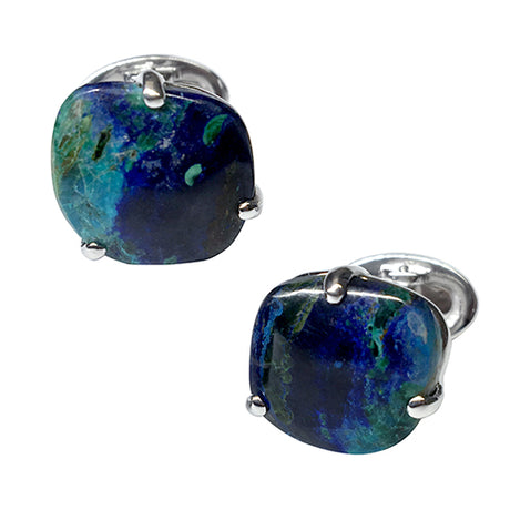 Azurite Pebble Cufflinks - Jan Leslie Cufflinks and Accessories