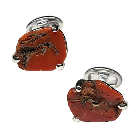 Coral Cufflinks - Jan Leslie Cufflinks and Accessories