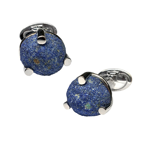 Azurite Blueberry Cufflinks - Jan Leslie Cufflinks and Accessories